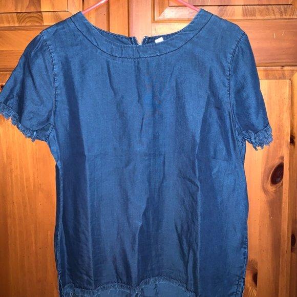 Francesca's Jean Short Sleeve Shirt